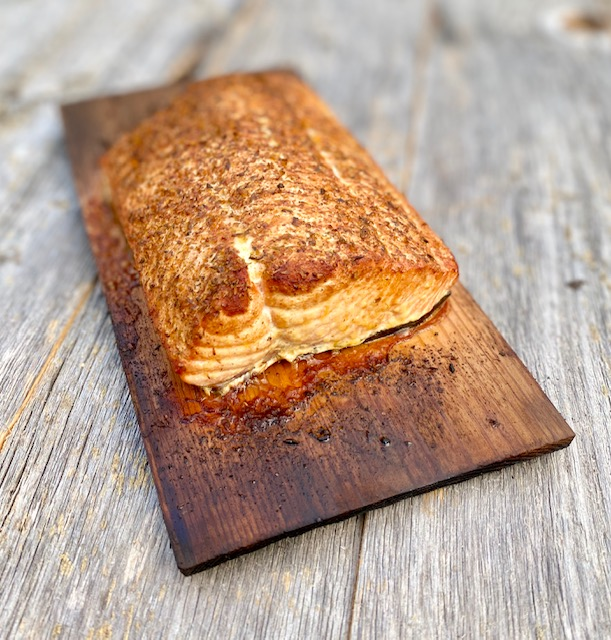 Salmon Cooked on a Plank