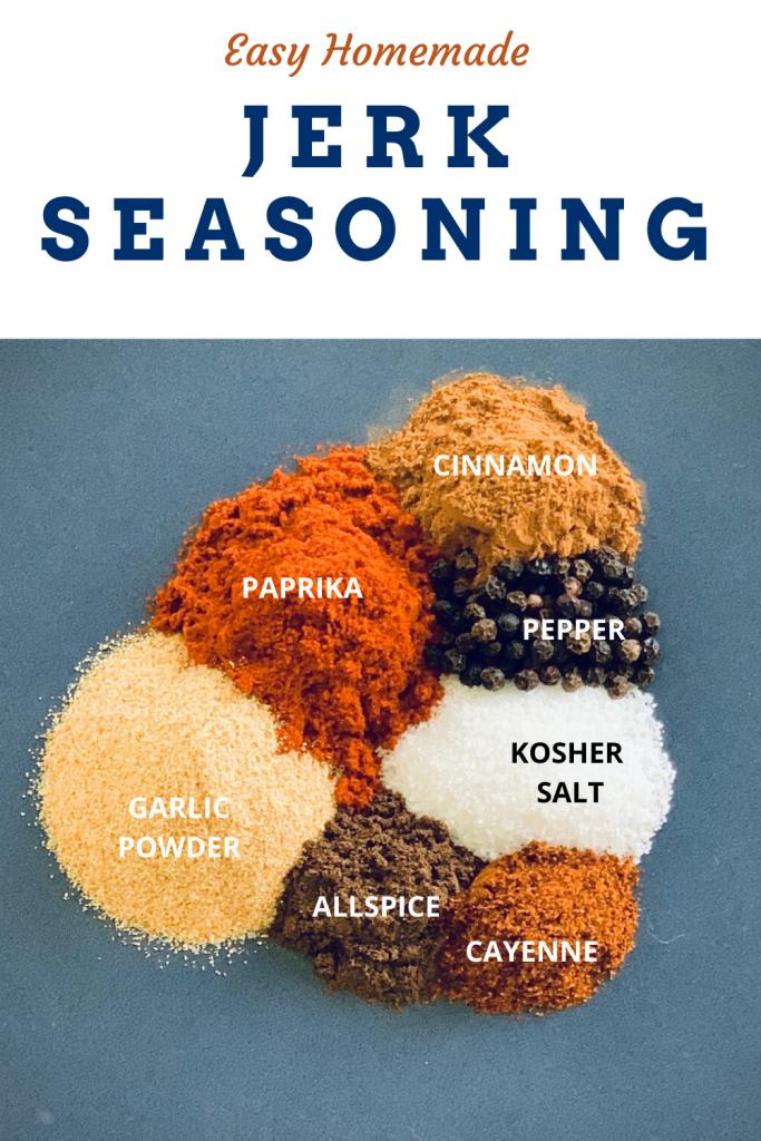 Homemade Jerk Seasoning ingredients
