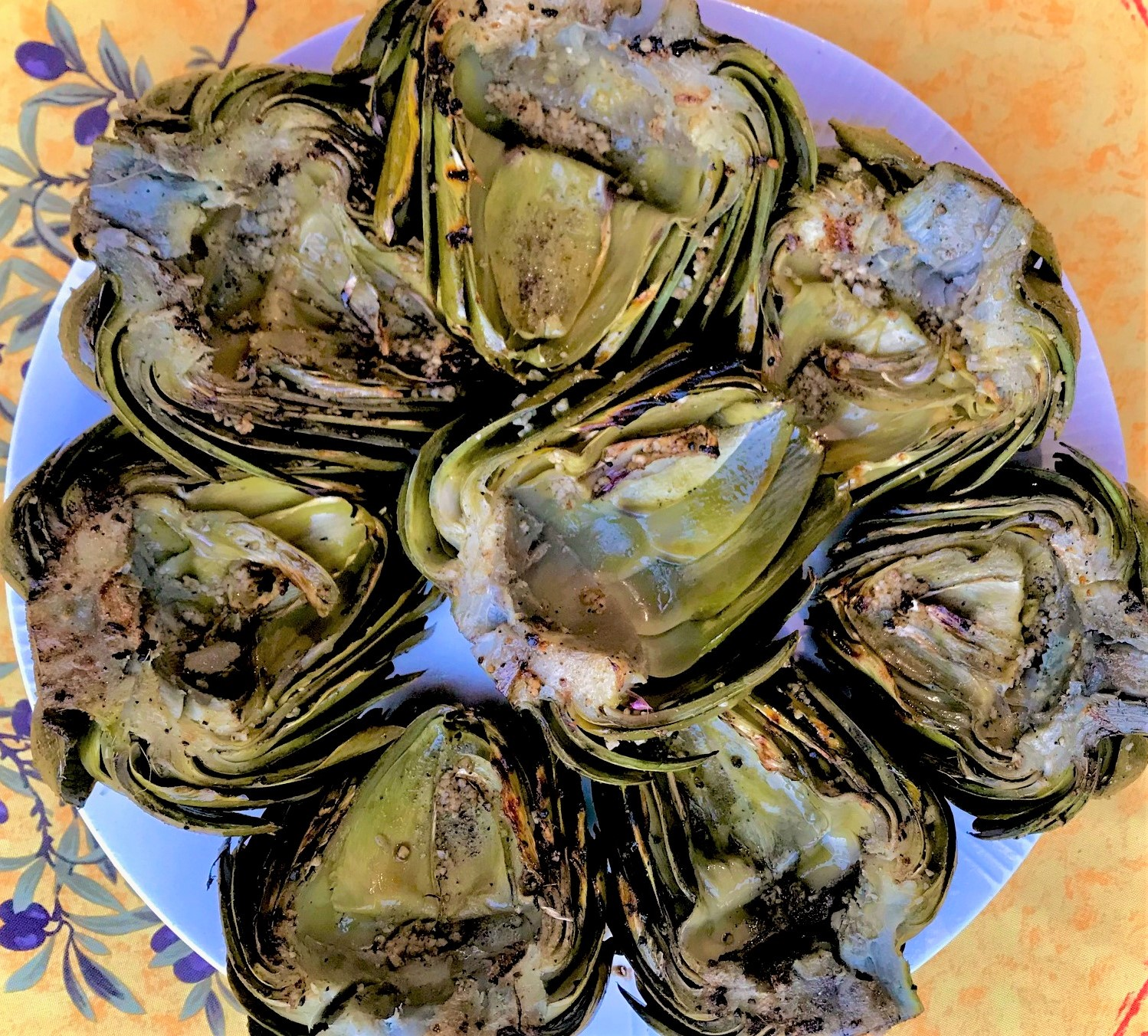 Grilled Artichokes Recipe with Lemon Dill Aioli
