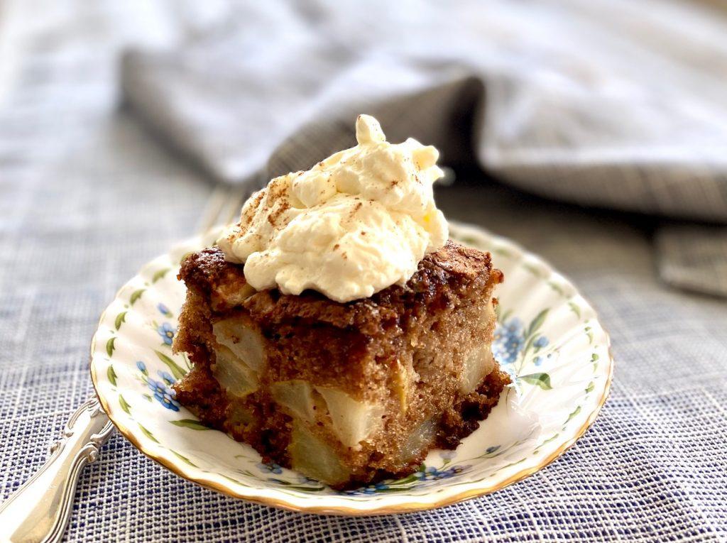 Cake with Cinnamon Whipped Cream