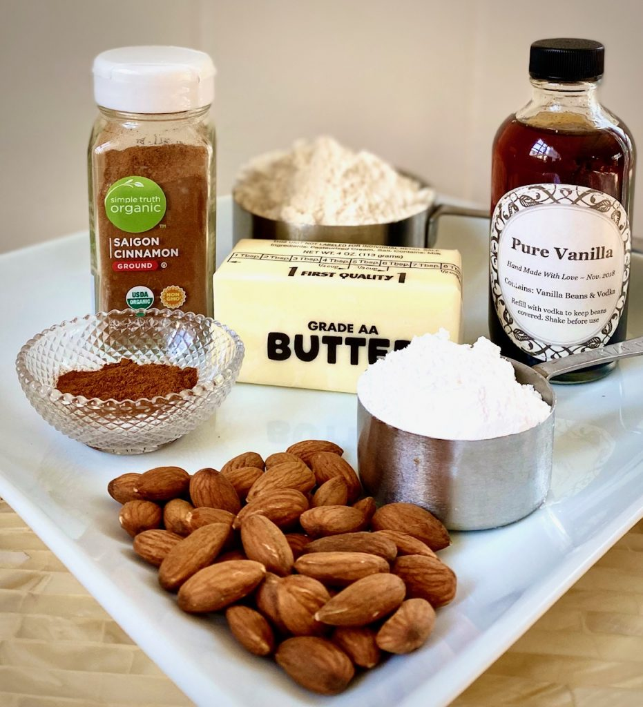 Ingredients for Mexican Wedding Cookies