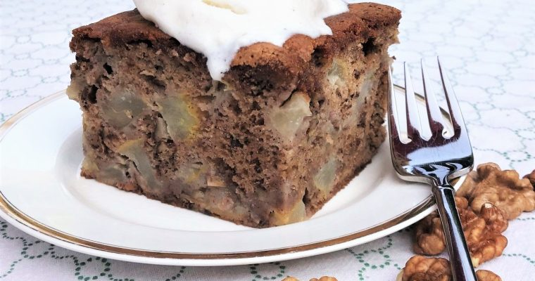 Pear and Walnut Cake Recipe