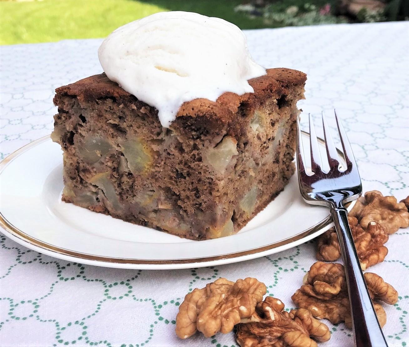 Pear and Walnut Cake Recipe