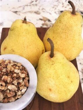 Bartlett Pears and Walnuts
