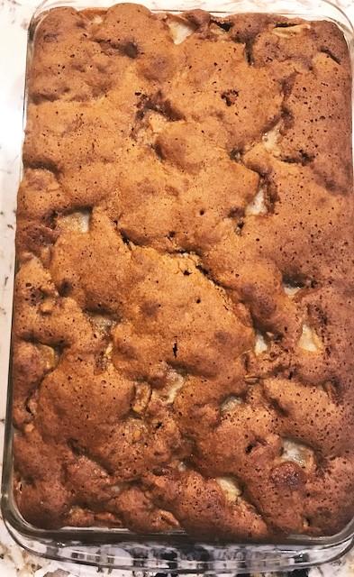 Freshly Baked Pear Cake