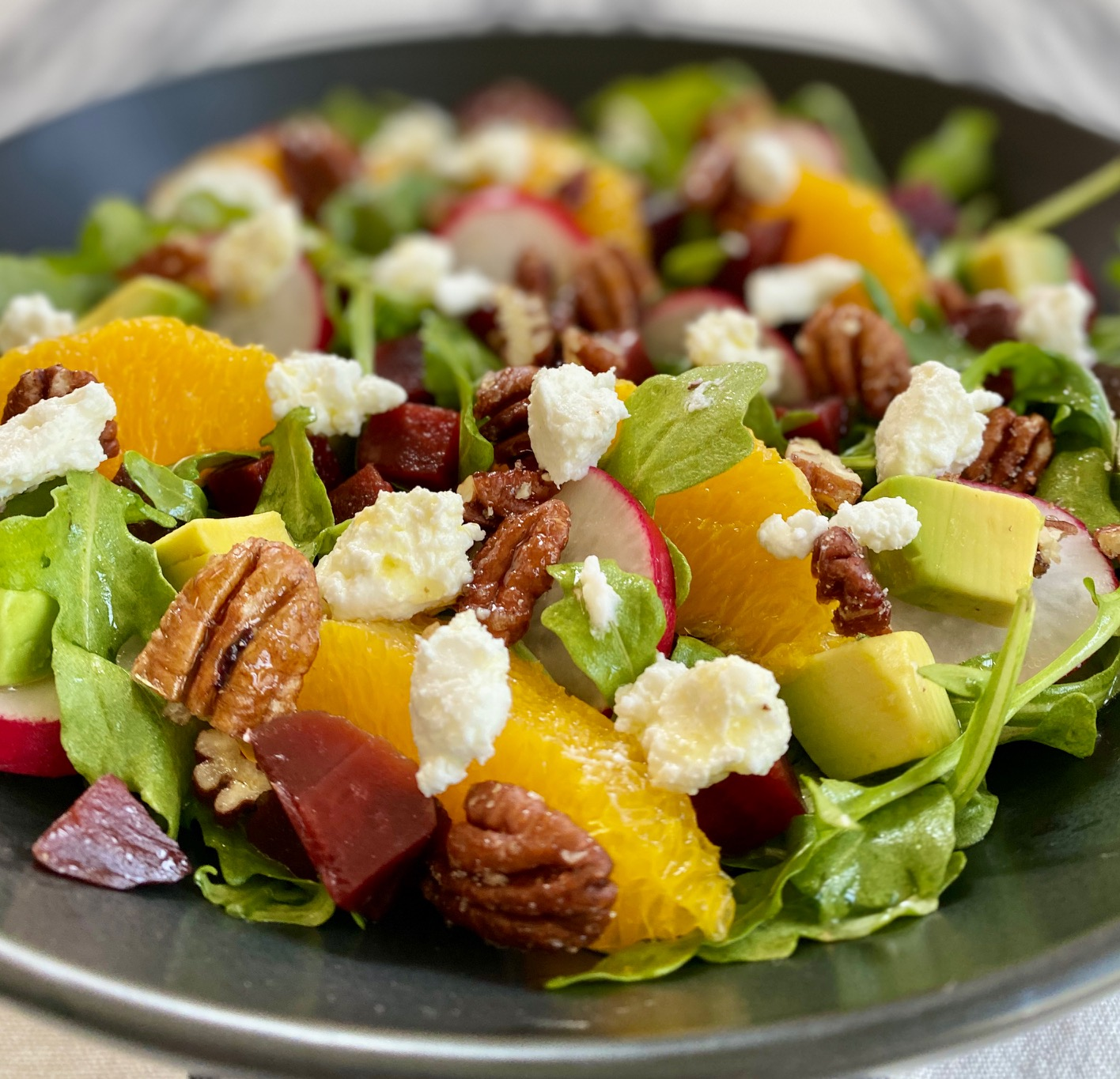 Arugula Beet Salad with Goat Cheese