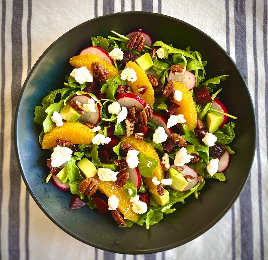 Arugula Beet Goat Cheese Salad