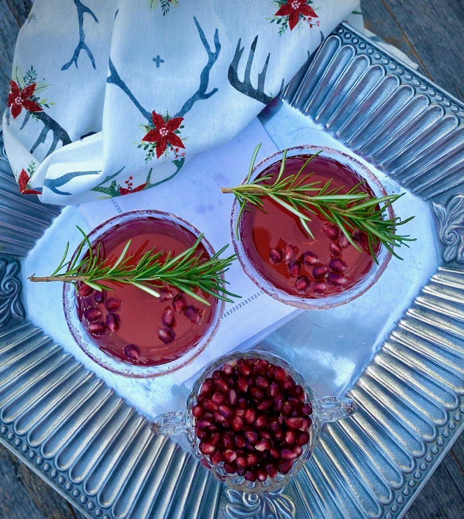 2 Prosecco Pomegranate Cocktails