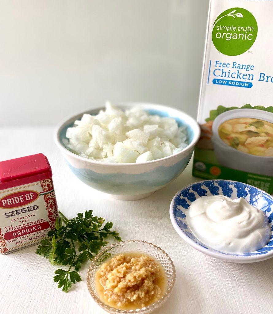 Ingredients for Chicken paprikash