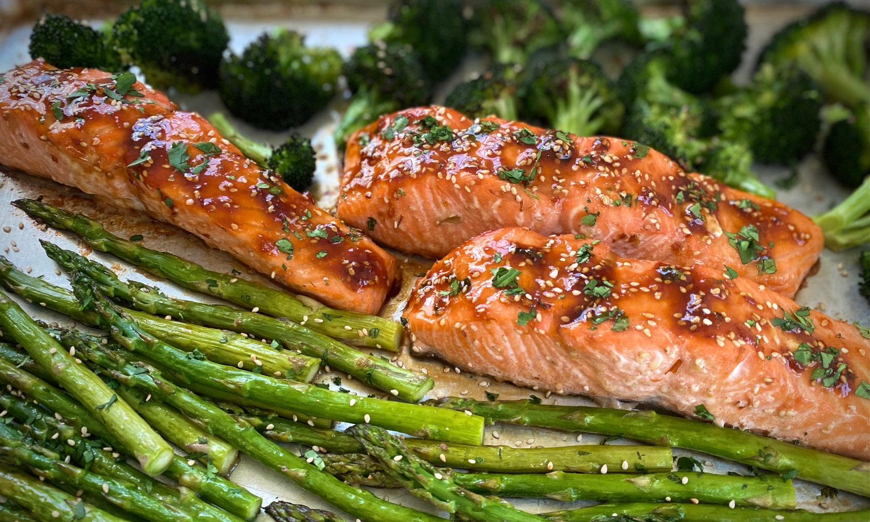 Sheet Pan Salmon with Asparagus