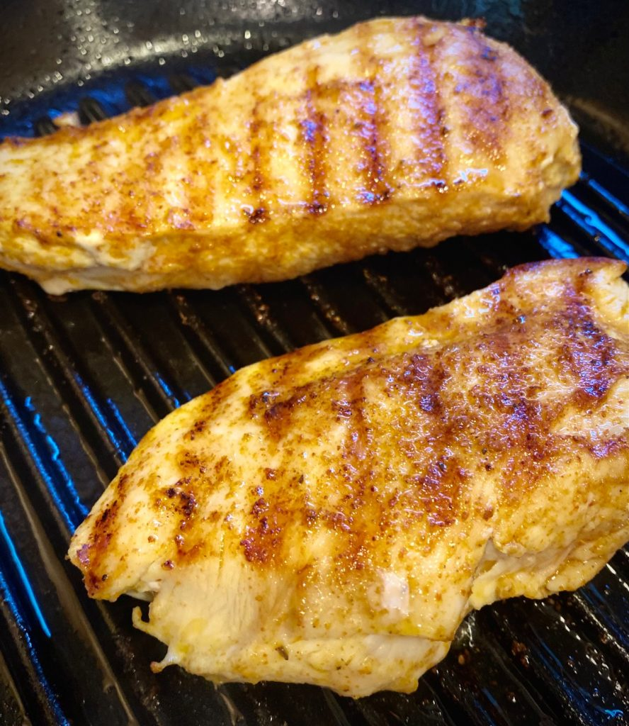 2 grilled chicken breasts