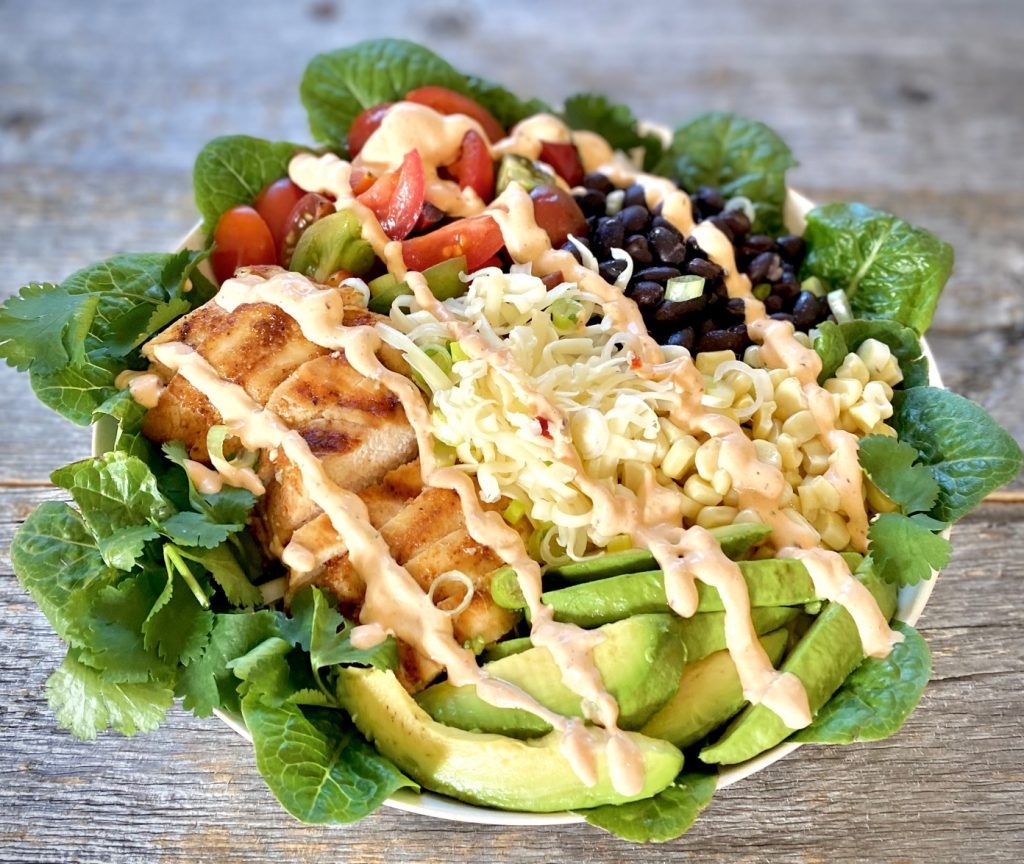 Chicken Salad with Southwest Chipotle Dressing