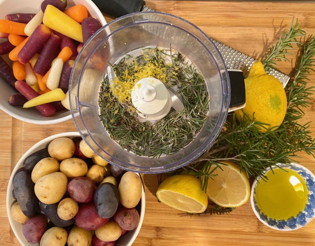Ingredients for Lemon Sheet Pan Chicken