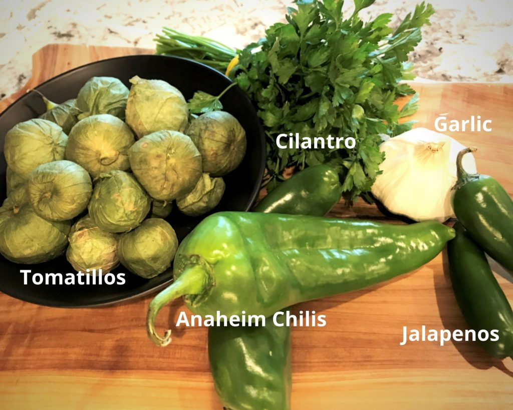 Ingredients for Tomatillo Sauce