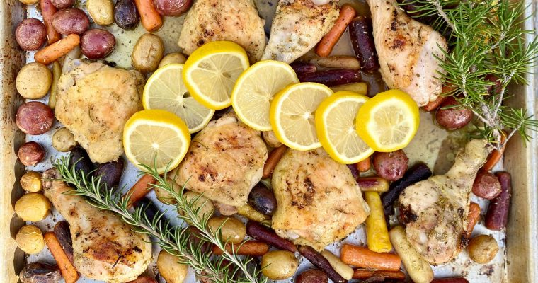 Sheet Pan Chicken with Lemon