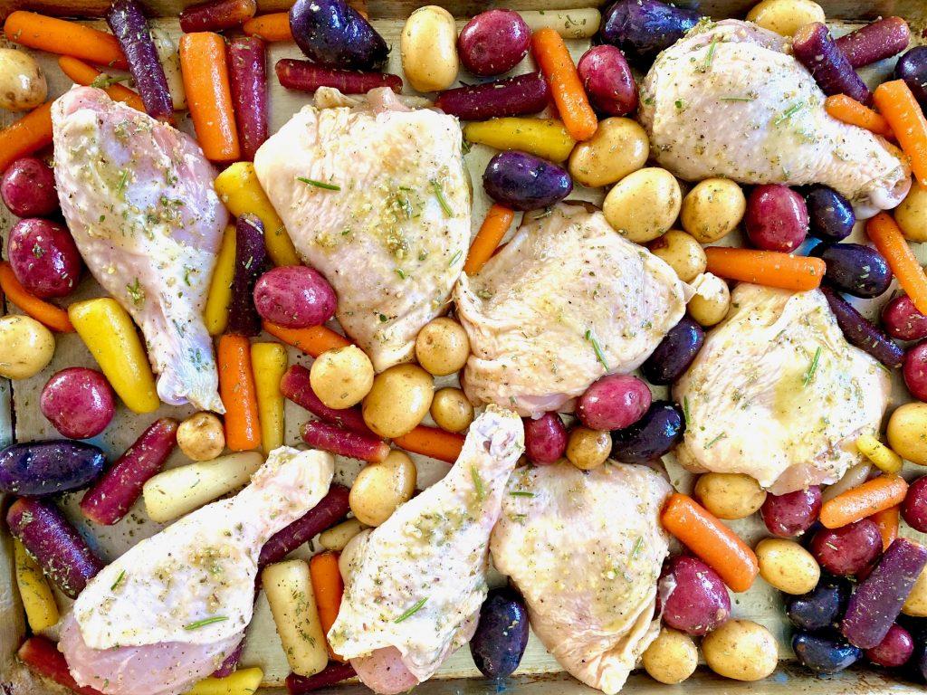 sheet chicken pre bake