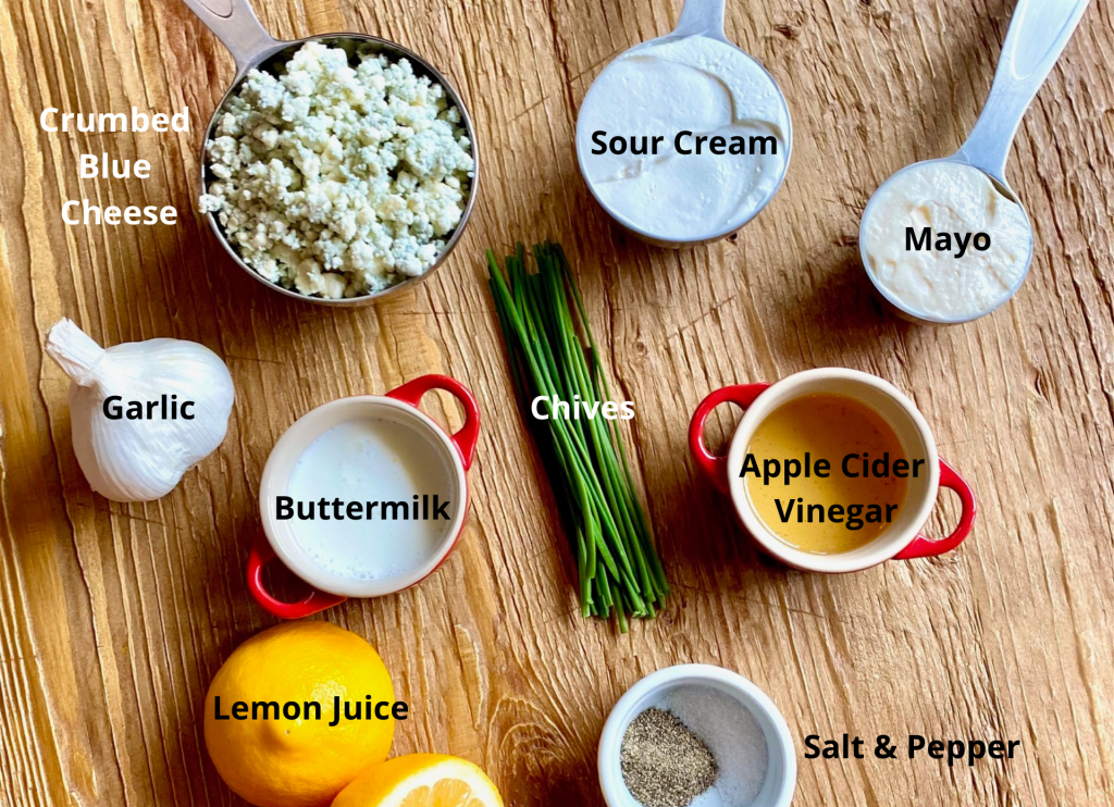 Ingredient pictures for Blue Cheese Dip