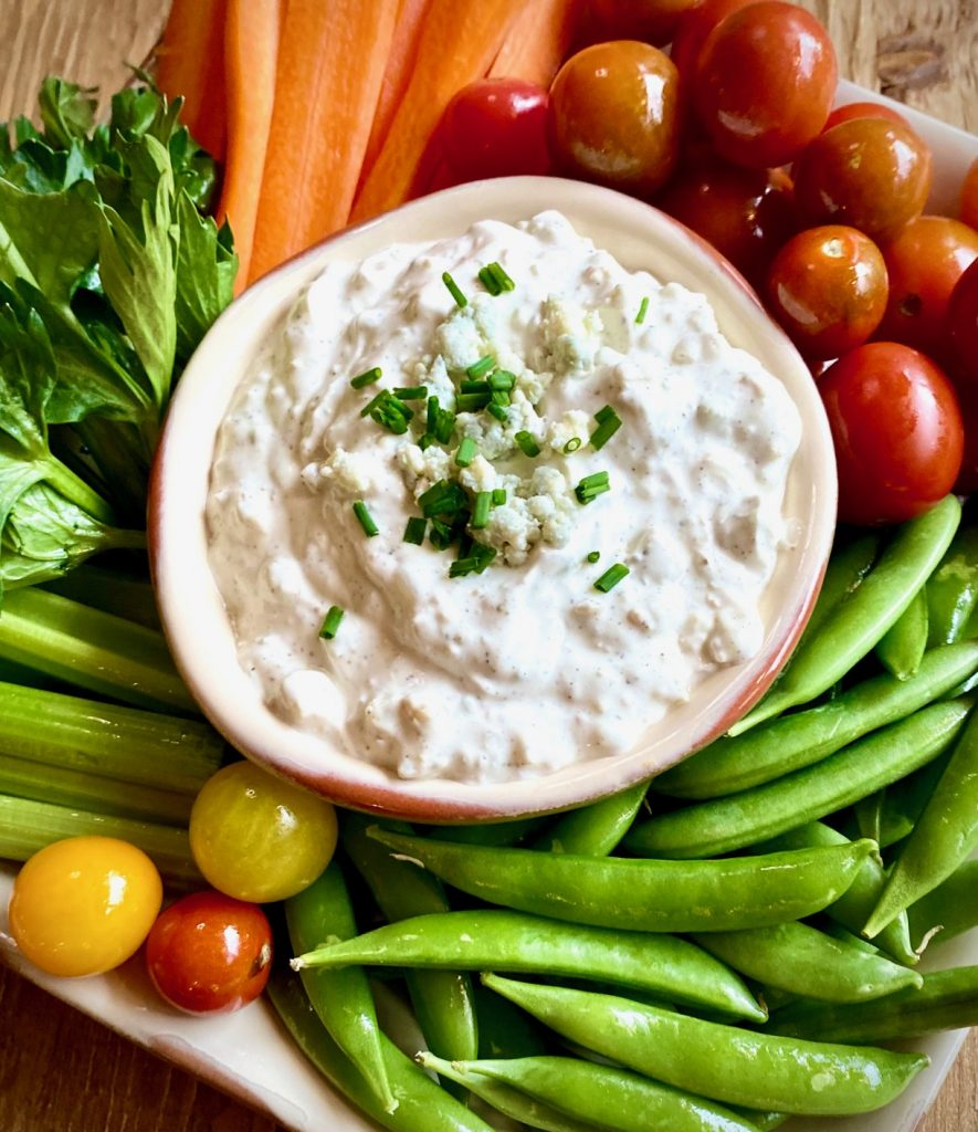 Veggies and Blue Cheese Dip