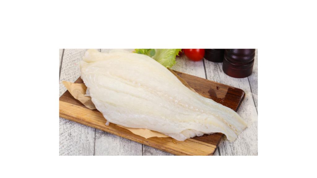 uncooked halibut