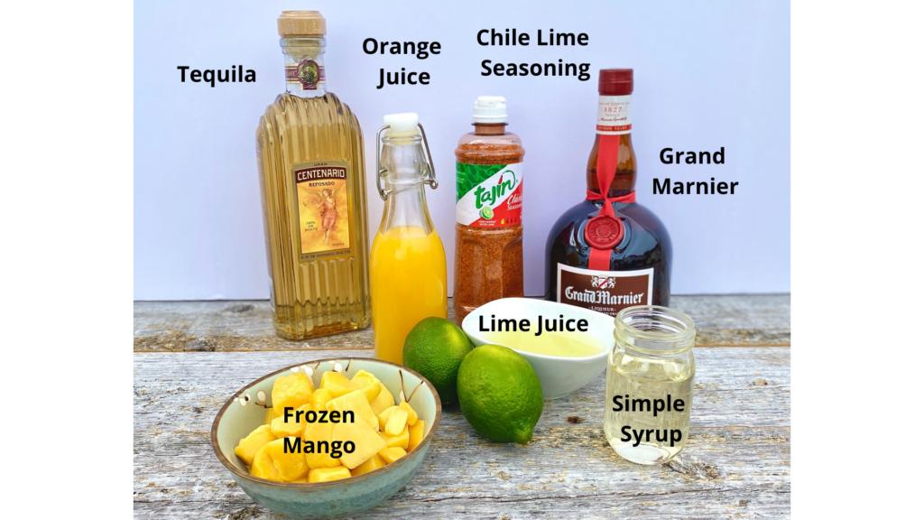 Ingredients for Mango Margaritas