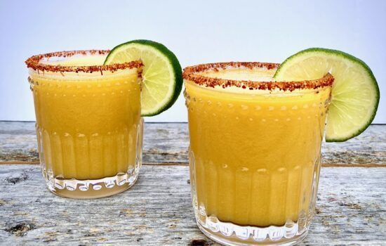 Spicy Mango Margaritas with Chili Lime