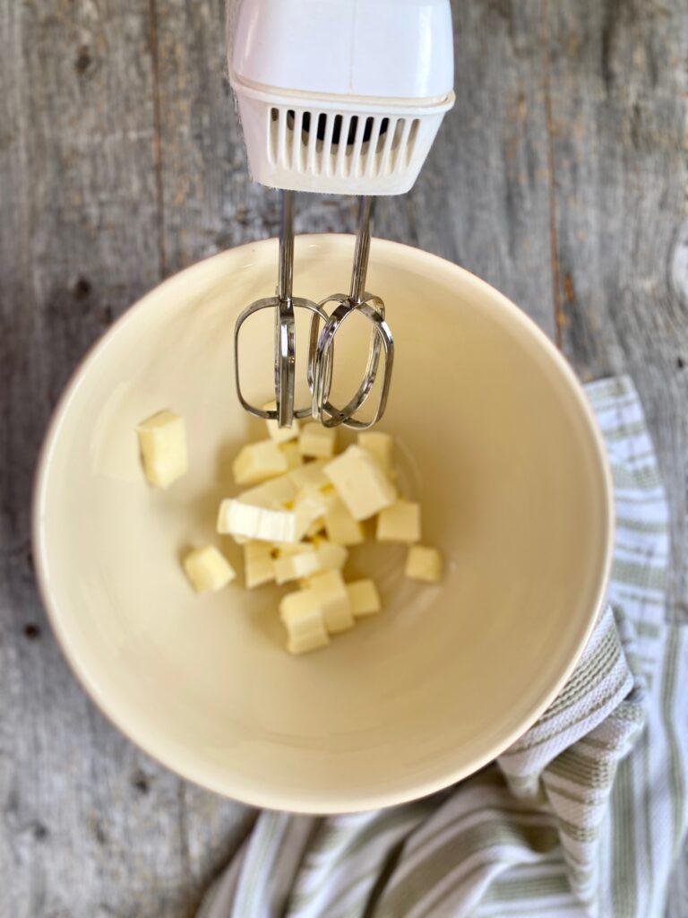 mixing butter cubes