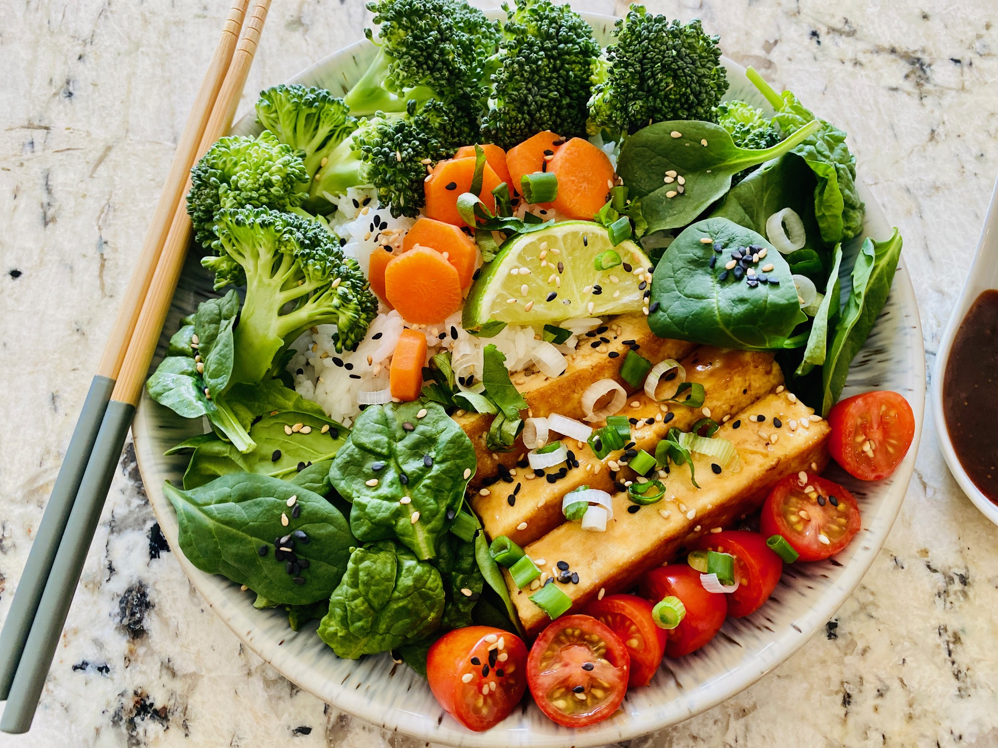Tofu Rice Bowls with Vegetables