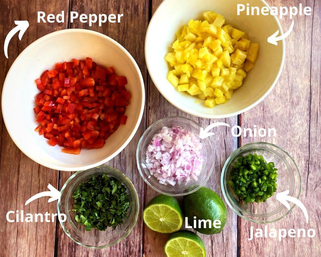 Pineapple Salsa Ingredients