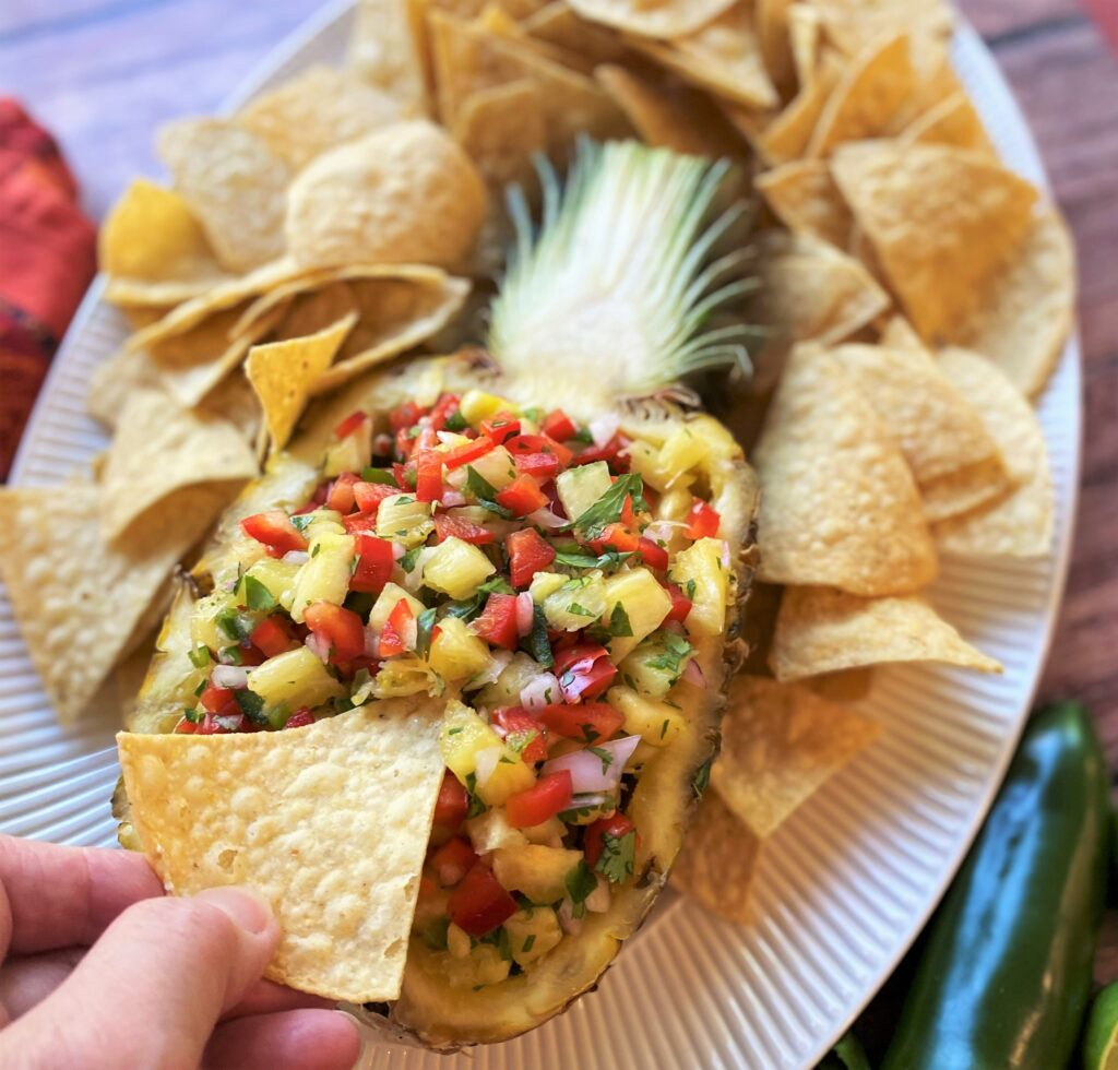 Enjoy a bite of salsa