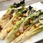 Grilled Caesar Salad on a white platter