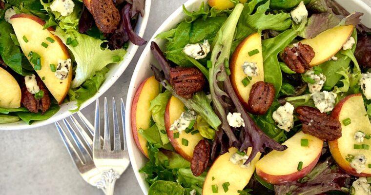 Fresh Peach Salad with Port Wine Vinaigrette
