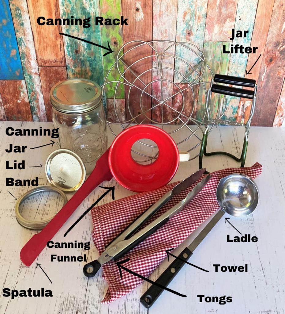 Water Bath Canning utensils