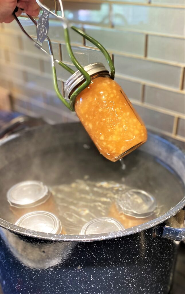 Lifting jars in and out of water bath